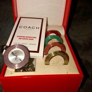Vintage Coach interchangeable bezel watch